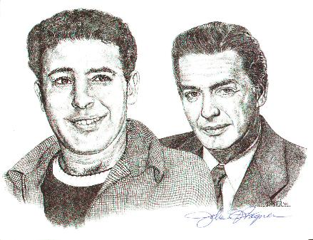 Vic and Fred drawing by John Hagner